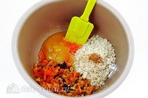 Добавляем сухофрукты, мед и рис
