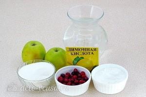 Витаминный яблочно-клюквенный кисель: Ингредиенты