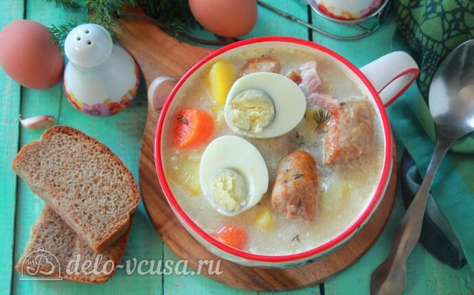 Белый борщ – польский суп Журек