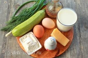 Блины из кабачков с сыром и зеленью: Ингредиенты