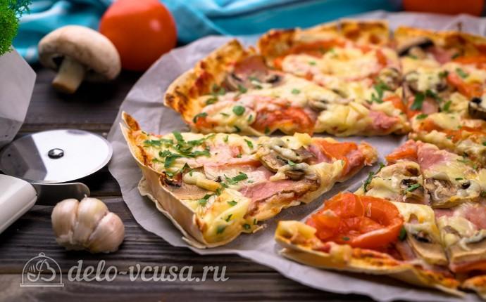 Быстрая пицца из лаваша за 10 минут