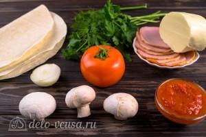Быстрая пицца из лаваша за 10 минут: Ингредиенты