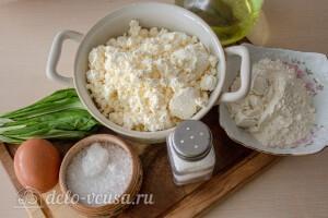 Диетические сырники с черемшой: Ингредиенты