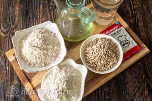 Домашний гречневый хлеб с семечками подсолнуха: Ингредиенты