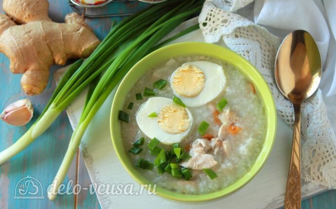 """Филиппинский куриный суп с рисом """"Арроз Кальдо"""""""