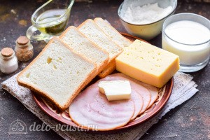 """Французские тосты """"Крок-месье"""": Ингредиенты"""