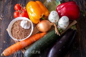 Рассыпчатая гречка с овощами в духовке: Ингредиенты