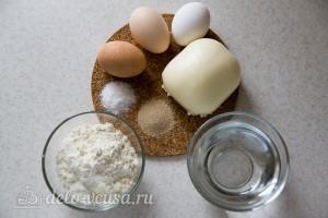 Хачапури по-аджарски с сыром сулугуни: Ингредиенты