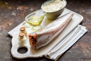 Жареный хек с хрустящей корочкой на сковороде: Ингредиенты