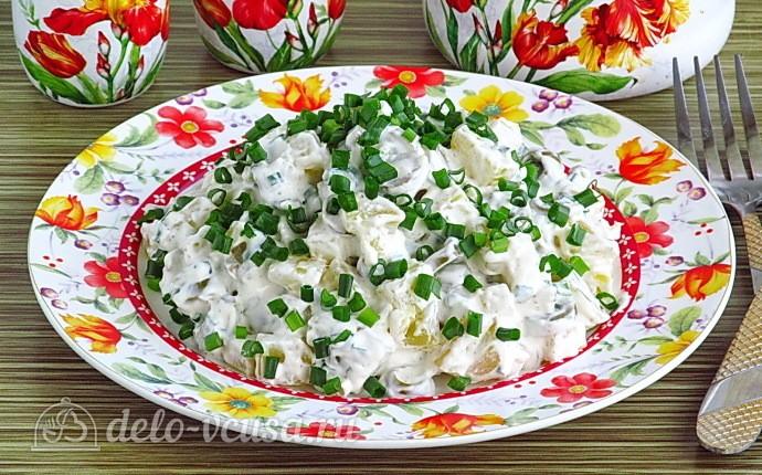 Рецепт сытный картофельный салат с оливками