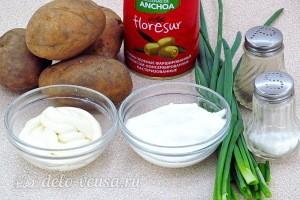 Сытный картофельный салат с оливками: Ингредиенты