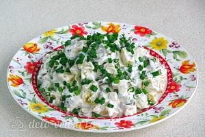 Картофельный салат с оливками готов