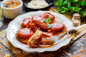 Котлеты из гречки и картофеля с подливкой готовы