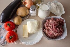 Мусака по-гречески с баклажанами и картошкой: Ингредиенты