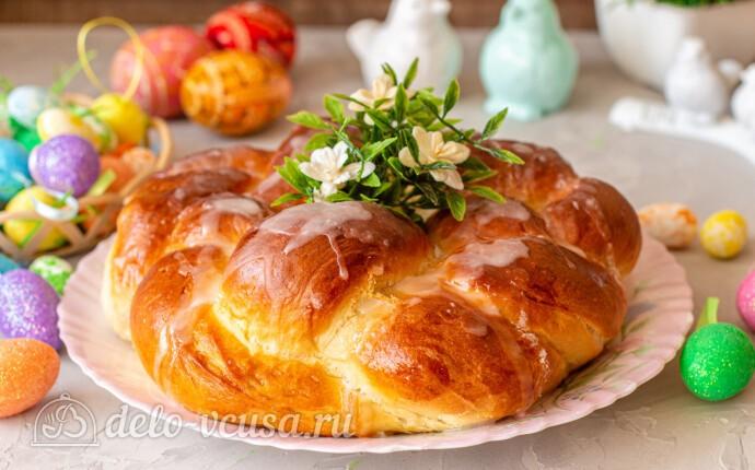 Пасхальный венок с тройной начинкой в хлебопечке