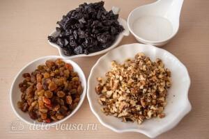 Готовим все три начинки: изюм, чернослив и орехи