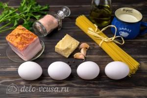 Паста Карбонара со сливками и беконом за 15 минут: Ингредиенты