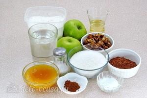 Постная шоколадно-медовая коврижка с яблоками: Ингредиенты