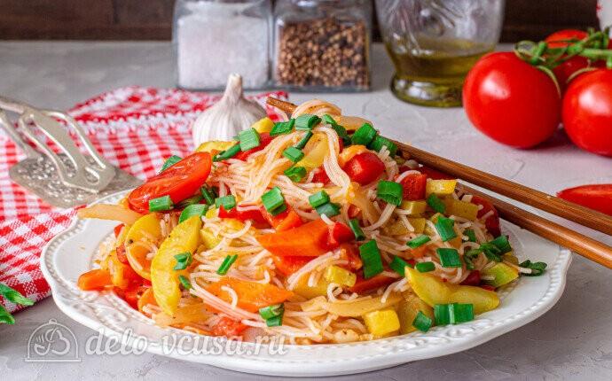 Рецепт рисовая лапша фунчоза с овощами