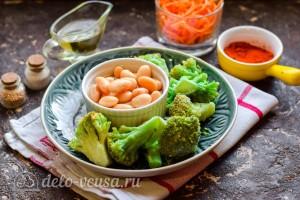 Салат из фасоли с брокколи и морковью по-корейски: Ингредиенты