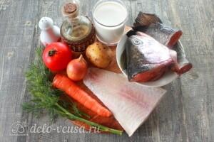 Сливочная уха по-фински с помидорами: Ингредиенты