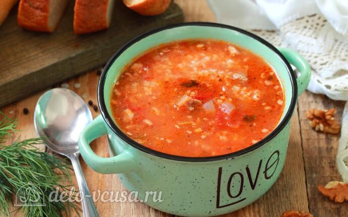 Суп харчо с говядиной и рисом в мультиварке