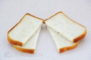 Хлеб режем ломтиками
