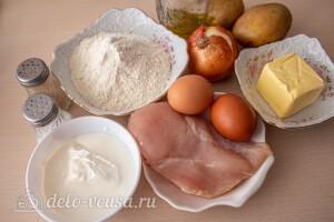 """Татарские пирожки """"Элеш"""" с курицей и картошкой: Ингредиенты"""