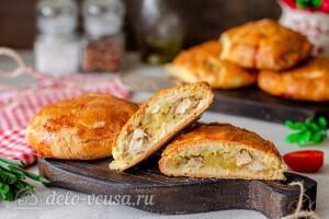 Татарские пирожки Элеш с курицей и картошкой готовы