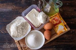 Творожные крендели к чаю: Ингредиенты