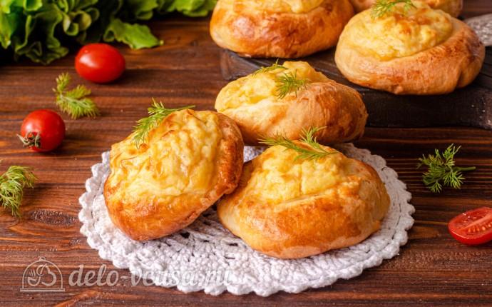 Ватрушки с картофелем и сыром в хлебопечке