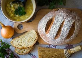 Рецепт воздушный луковый хлеб в духовке