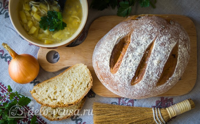 Воздушный луковый хлеб в духовке
