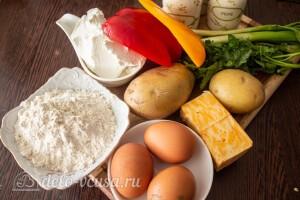 Запеканка с картошкой, перцем и сыром: Ингредиенты