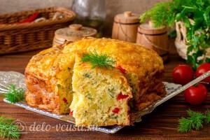 Запеканка с картошкой, перцем и сыром готова