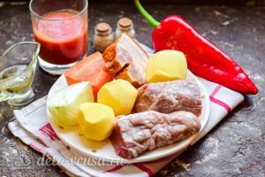 Жаркое по-уральски со свининой: Ингредиенты