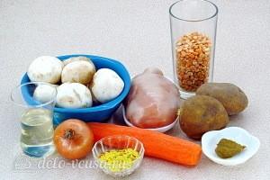 Гороховый суп с курицей и шампиньонами: Ингредиенты