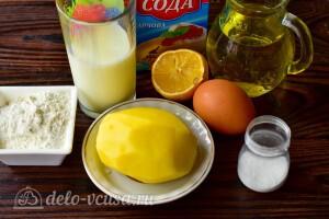 Картофельные блины на кефире: Ингредиенты