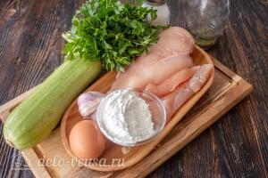 Куриные котлеты с кабачком на сковороде: Ингредиенты