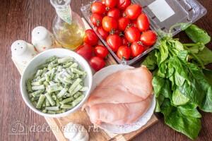 Курица с фасолью, шпинатом и помидорами: Ингредиенты