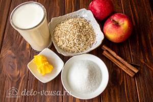 Овсяная каша с карамелизированными яблоками: Ингредиенты