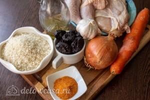 Плов с курицей и черносливом в мультиварке: Ингредиенты