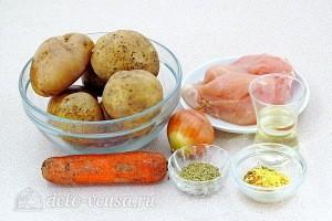 Ароматное куриное филе с картошкой в рукаве: Ингредиенты