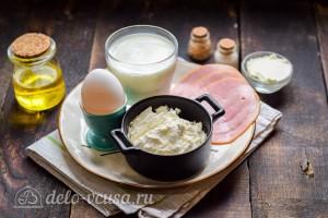 Блинные рулетики с ветчиной и сливочным сыром: Ингредиенты