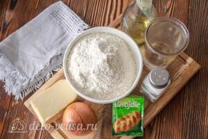 Фокачча с жареным луком и сыром: Ингредиенты