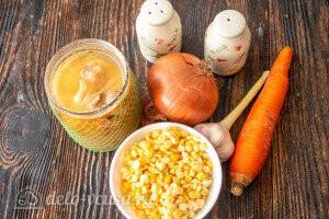 Гороховая каша с тушёнкой: Ингредиенты
