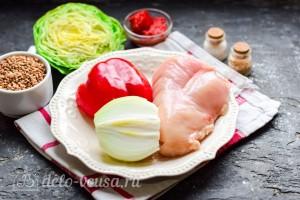 Гречка с курицей, капустой и перцем в духовке: Ингредиенты
