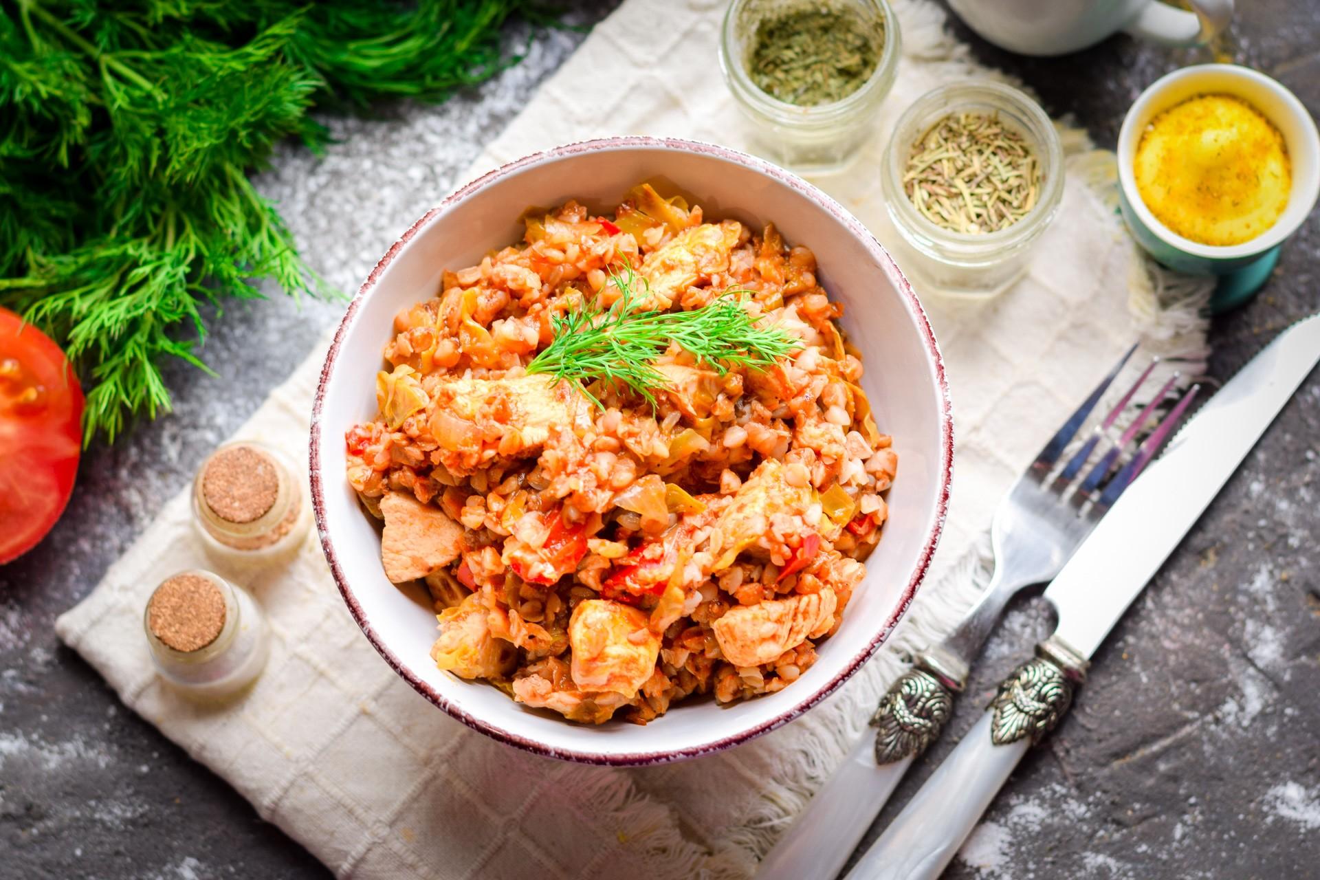 гречка с курицей для похудения рецепт