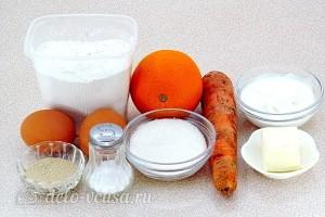 Морковный кулич с апельсином: Ингредиенты