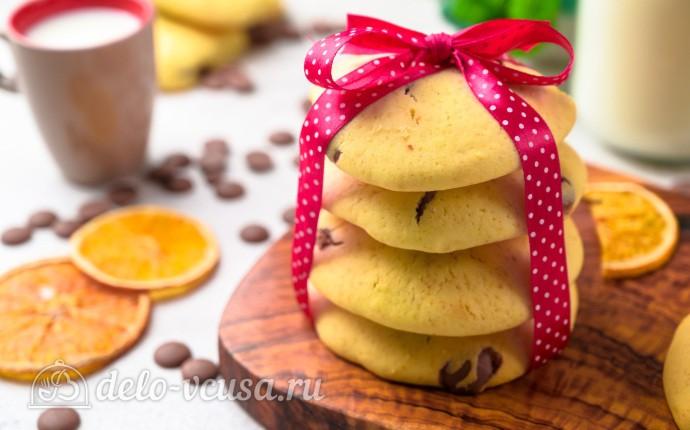 Мягкое печенье с шоколадной крошкой